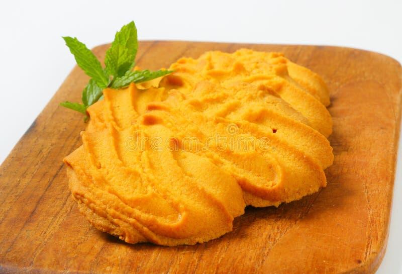 De koekjes van vanillespritz stock afbeelding