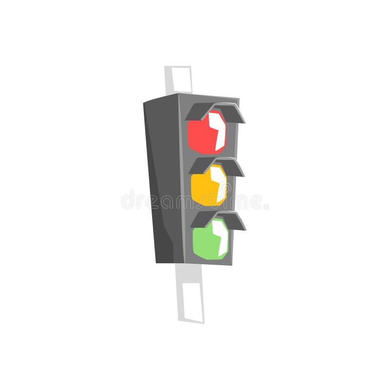De Koele Kleurrijke Vectorillustratie van het straatlantaarnpunt stock illustratie