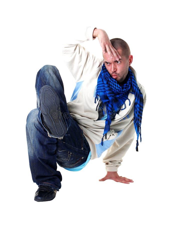 De koele moderne danser van de mens royalty-vrije stock afbeelding