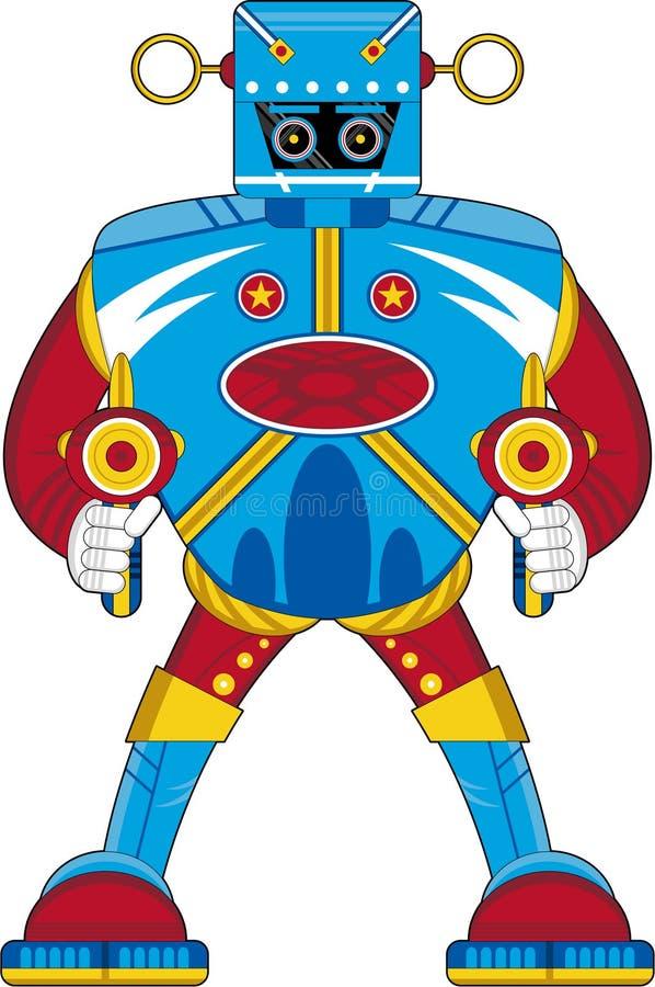 De koele Robot van Beeldverhaalmecha royalty-vrije illustratie