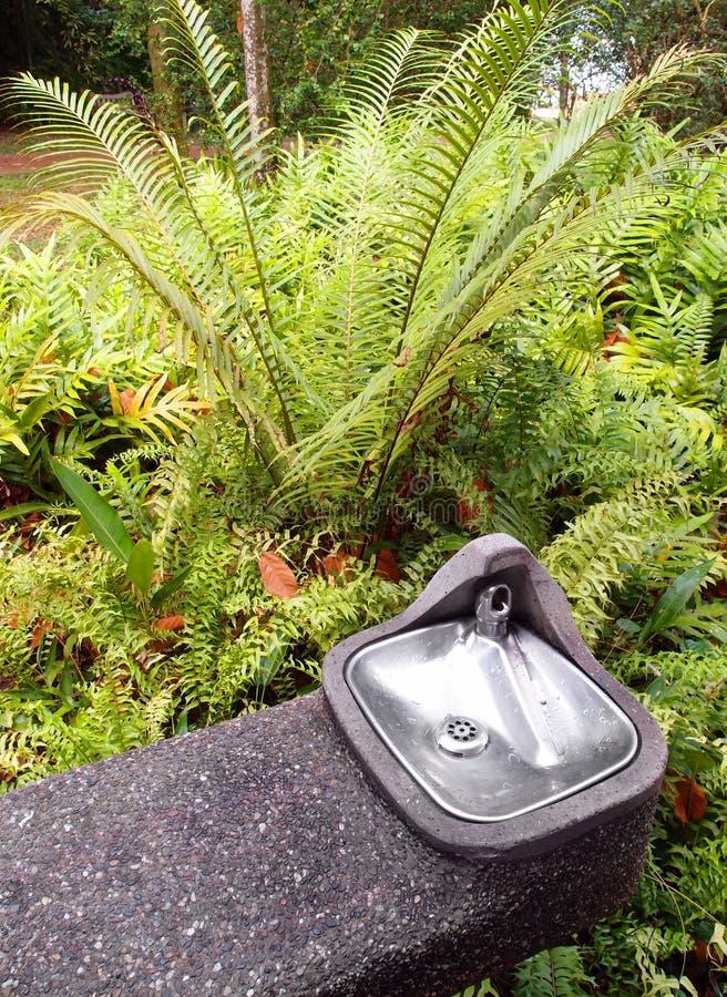 De koeler van het water voor het drinken in tuin stock foto's