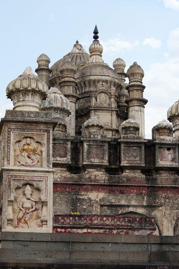 De koepel van de Bhuleshwartempel, Hindoese tempel van Lord Shiva, de weg van Pune - Solapur-, dichtbij Yawat, Pune, Maharashtra royalty-vrije stock afbeeldingen