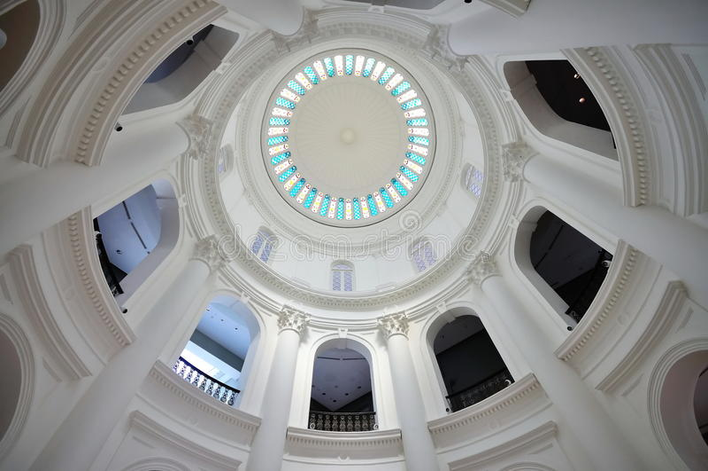 De koepel van de rotonde van Nationaal Museum van Singapore royalty-vrije stock afbeeldingen