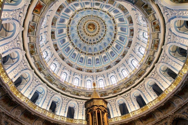 De koepel van de verrijzeniskathedraal in nieuw Jeruzalem monaster royalty-vrije stock afbeeldingen