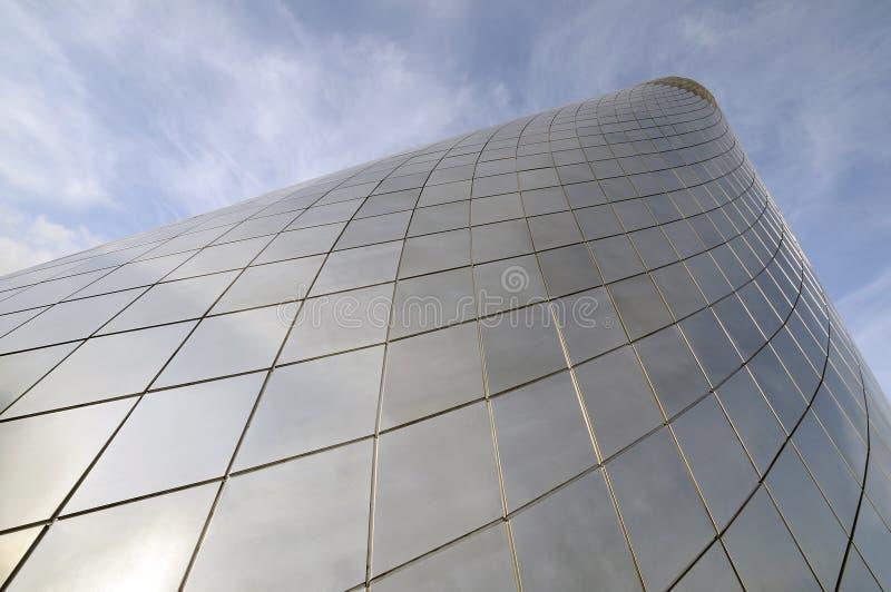 De koepel van het glas bij een museum stock afbeelding