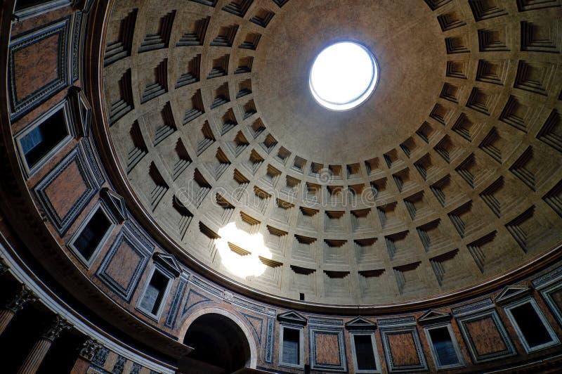 De koepel van het Pantheon stock foto