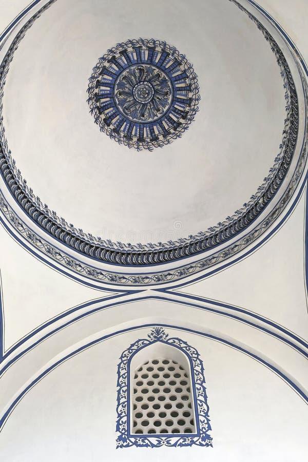 Het plafondkoepel van de moskee stock foto's