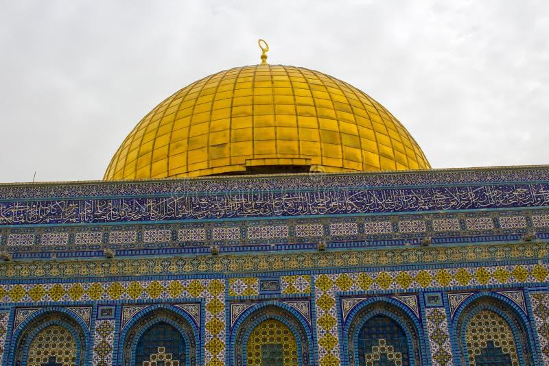 De koepel van het Rots Islamitische Heiligdom Jeruzalem stock fotografie