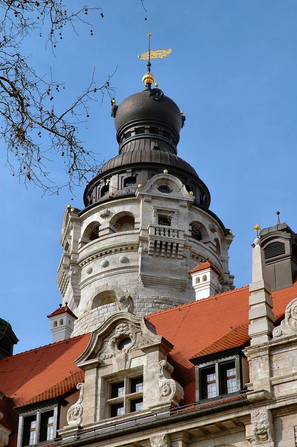De Koepel van het stadhuis in Leipzig, Duitsland stock foto's