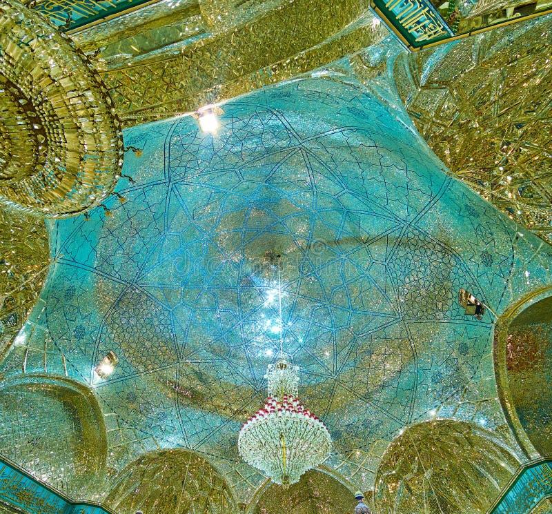 De koepel van Imam Zadeh Jafar Mausoleum, Yazd, Iran royalty-vrije stock afbeelding