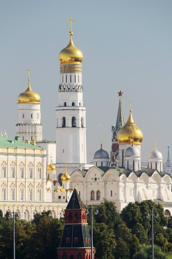 De koepel van Ivan Great-torenklok in Moskou het Kremlin royalty-vrije stock foto's