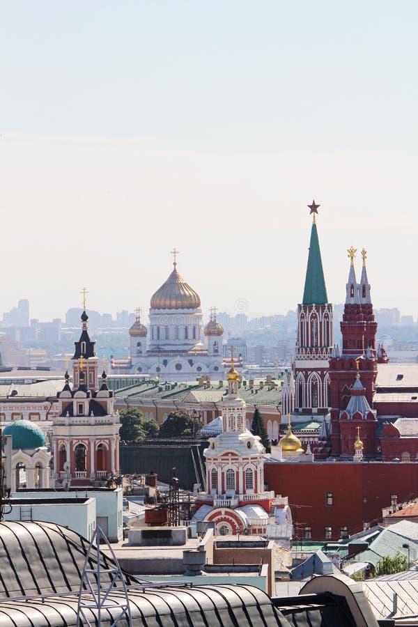 De koepel van Ivan Great-torenklok in Moskou het Kremlin stock foto