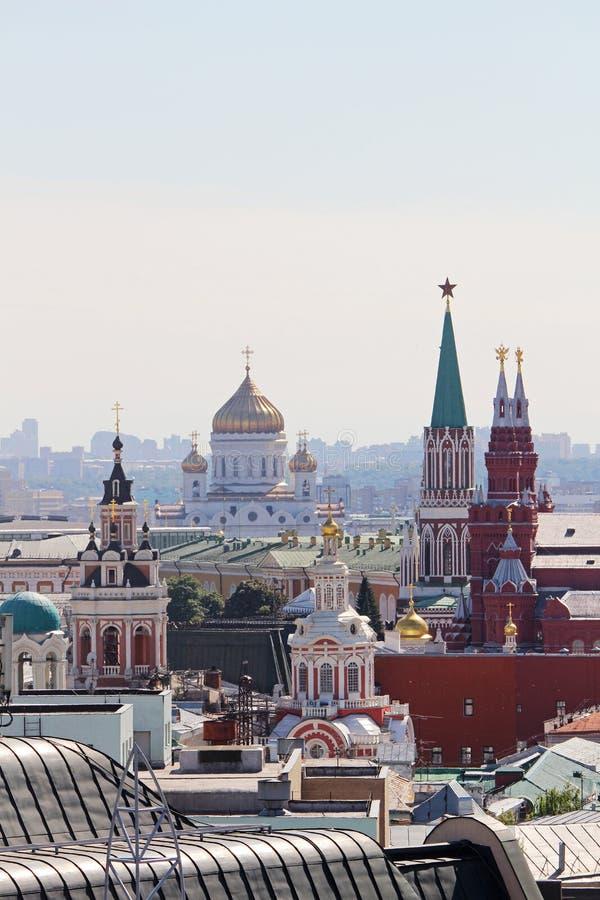 De koepel van Ivan Great-torenklok in Moskou het Kremlin stock fotografie