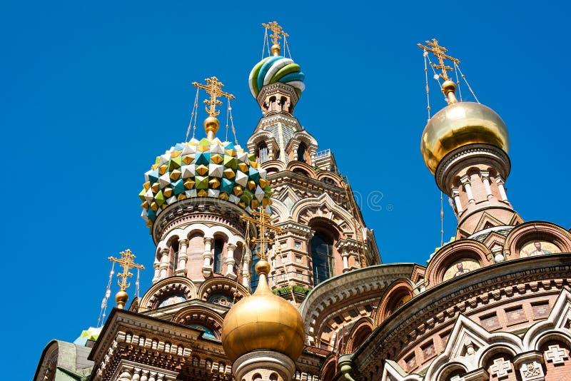 De koepel van Kerk van de Verlosser op Gemorst Bloed royalty-vrije stock foto