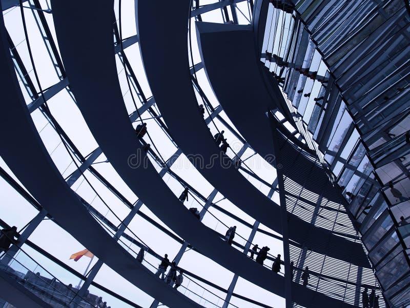De koepel van Reichstag   royalty-vrije stock fotografie