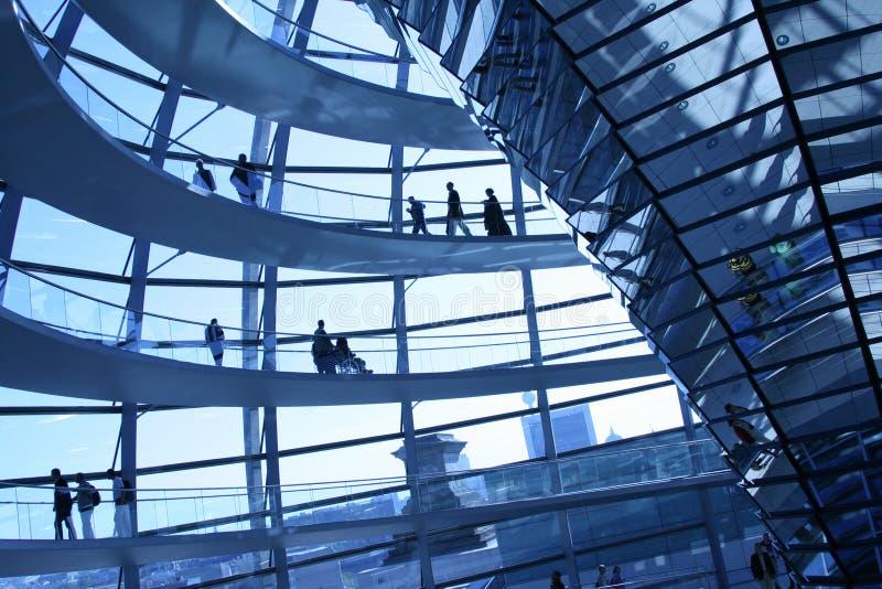De koepel van Reichstag stock foto