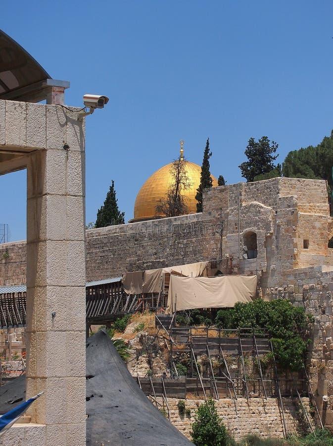 De koepel van de Rots, Tempel zet, Jeruzalem op stock foto