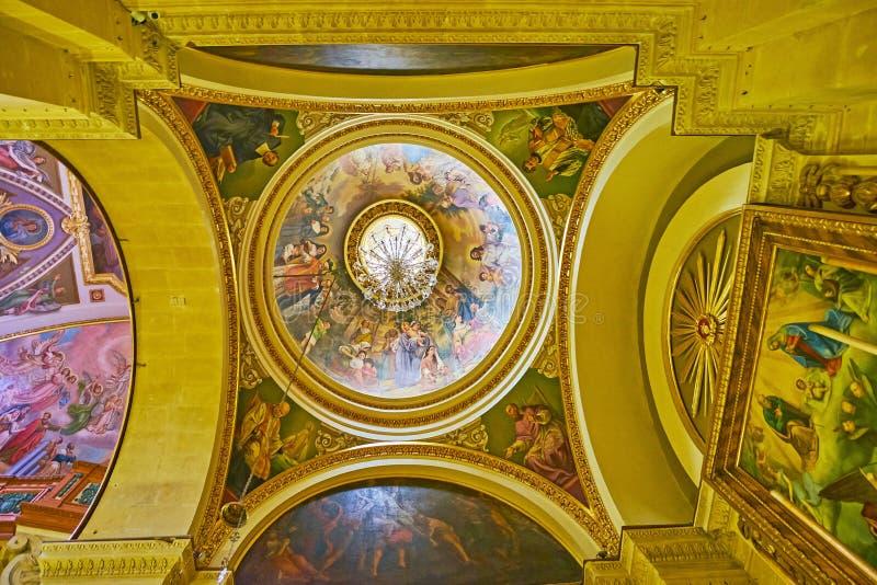 De koepel van Veronderstellingskathedraal, de Vesting van Rabat, Victoria, Gozo royalty-vrije stock fotografie