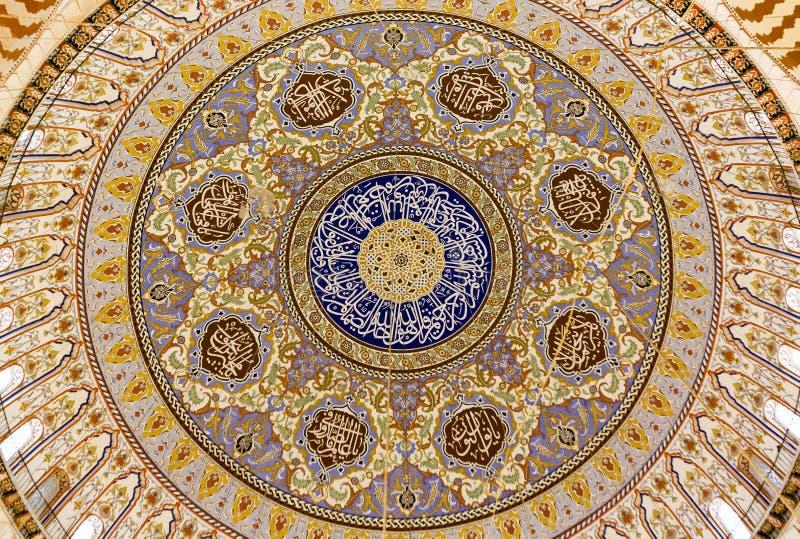 De koepelbinnenland van de Selimiyemoskee royalty-vrije stock afbeelding