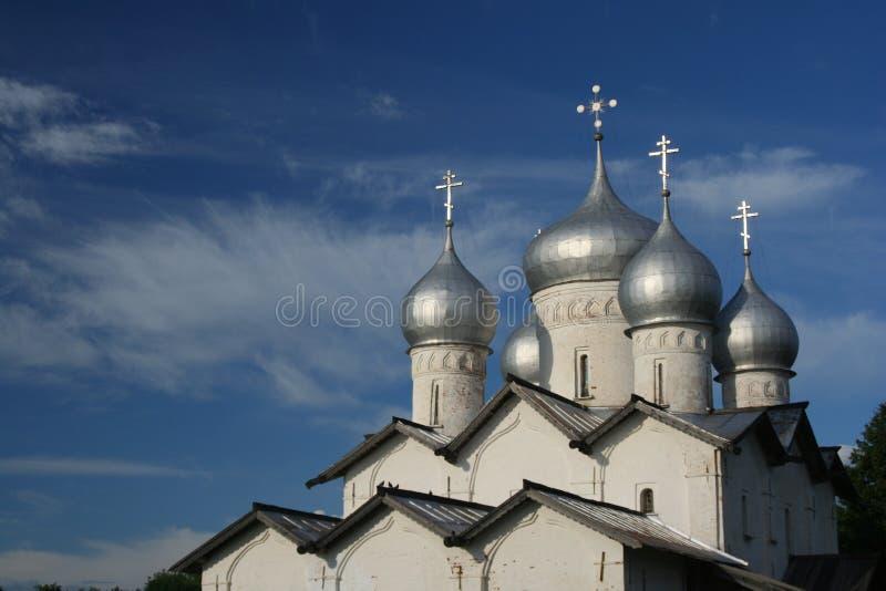 De koepels van de kerk royalty-vrije stock afbeeldingen