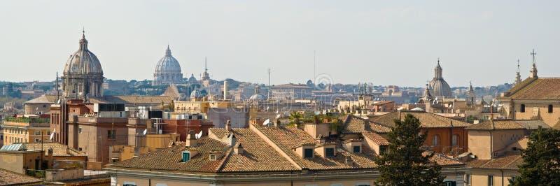 De koepels van Rome stock afbeelding