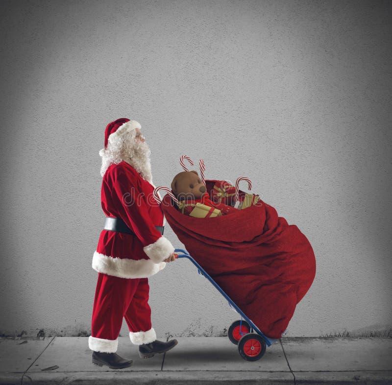 De koerier van de Kerstman stock afbeeldingen