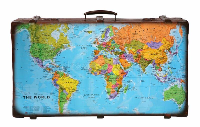 De koffer van de reis stock afbeelding