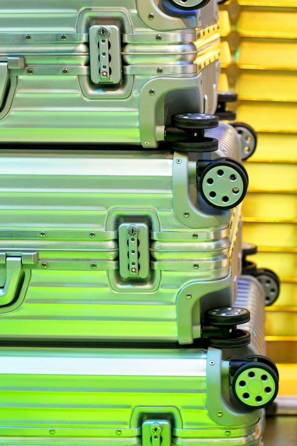 De Koffers Van Het Aluminium Royalty-vrije Stock Fotografie