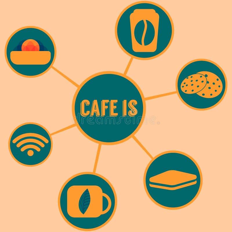 De koffie is stock afbeeldingen