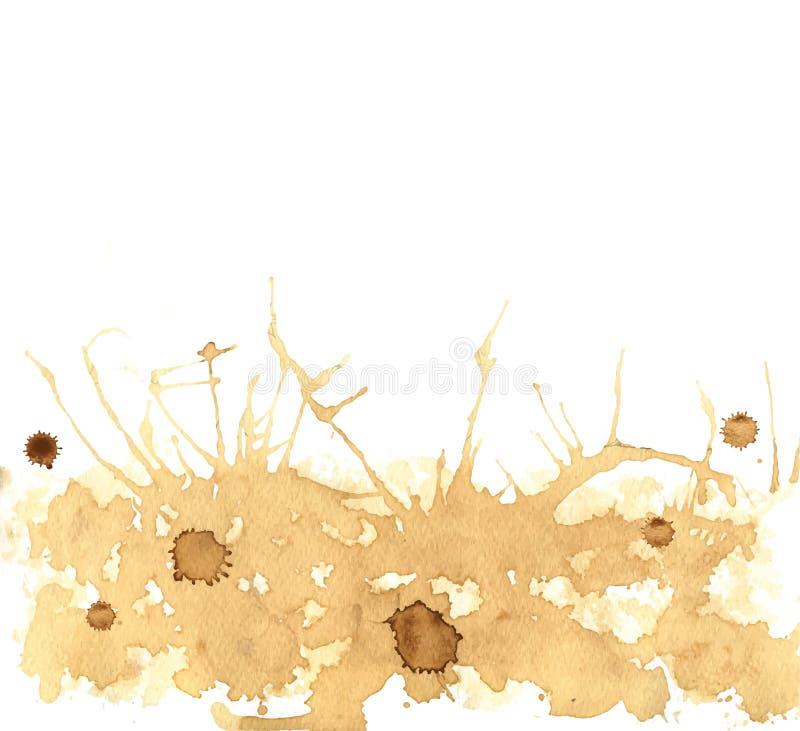 De koffie bevlekt Vector royalty-vrije illustratie