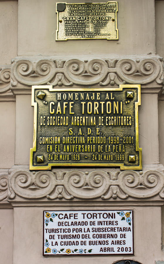 De Koffie Buenos aires Argentinië van Tortoni stock foto's