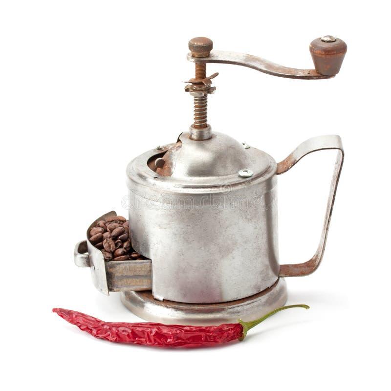 De koffie miljoen overhandigt getrokken illustratie stock fotografie