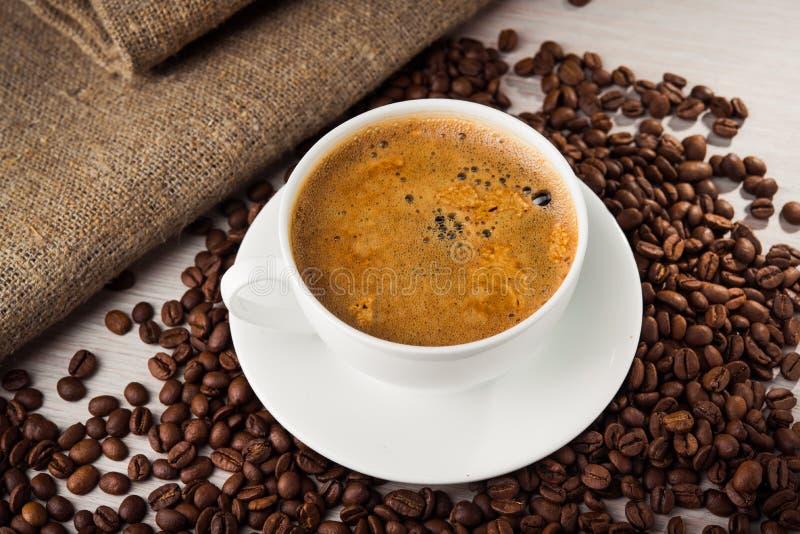 De koffie van aromaamericano stock foto's