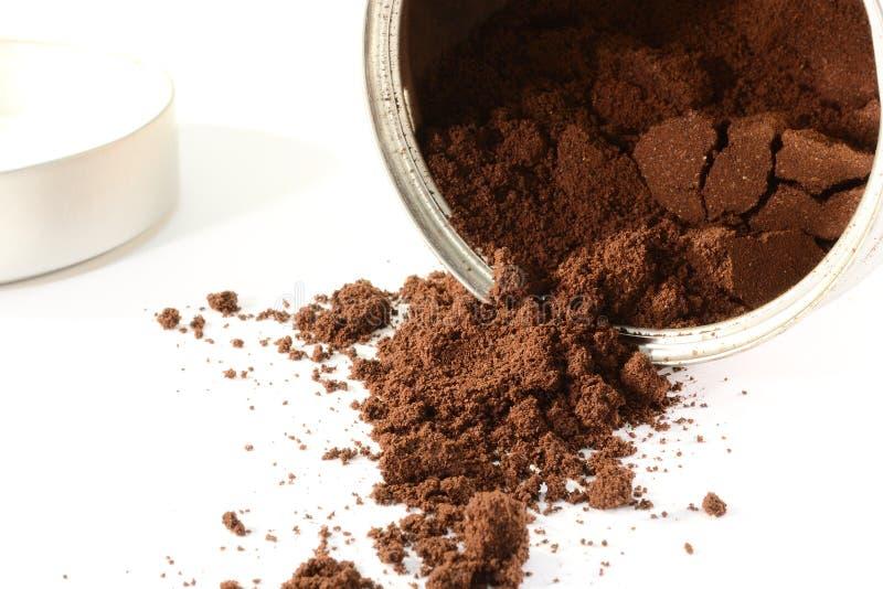 De koffie van de grond stock afbeelding