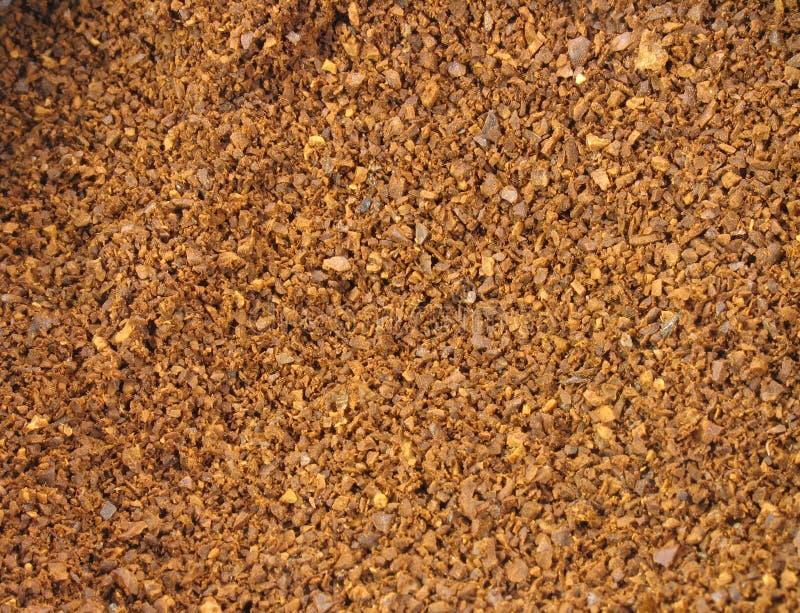 De Koffie van de grond stock afbeeldingen
