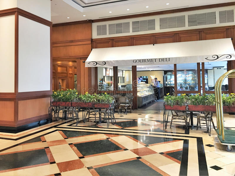 De Koffie van de het Hotelhal van Oroverde stock fotografie