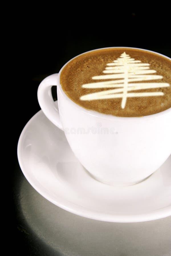 De Koffie van de kerstboom royalty-vrije stock afbeelding