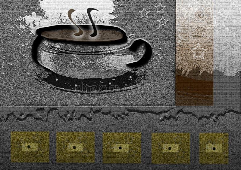 De Koffie van de koffie vector illustratie