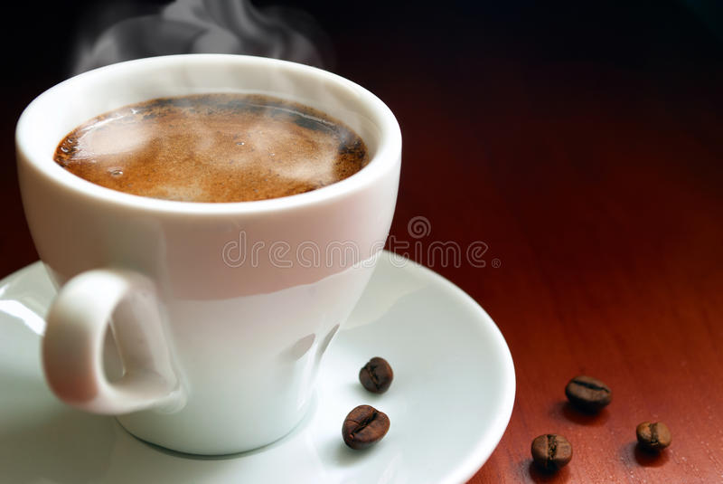 De koffie van de kop stock afbeelding