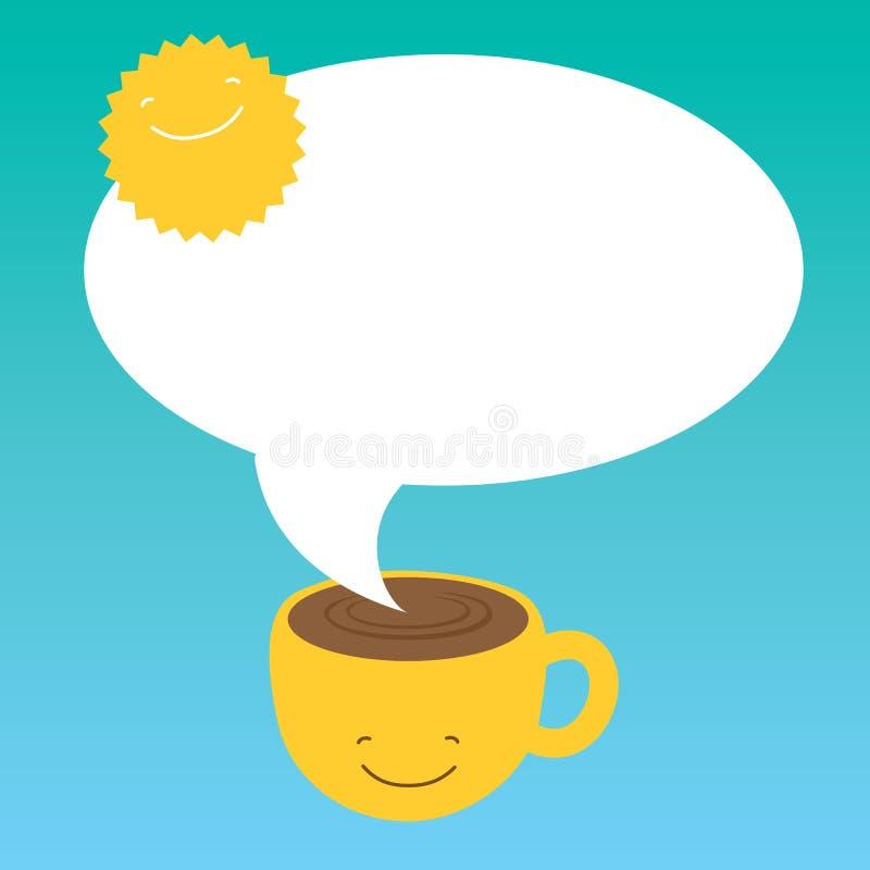 De koffie van de ochtend vector illustratie