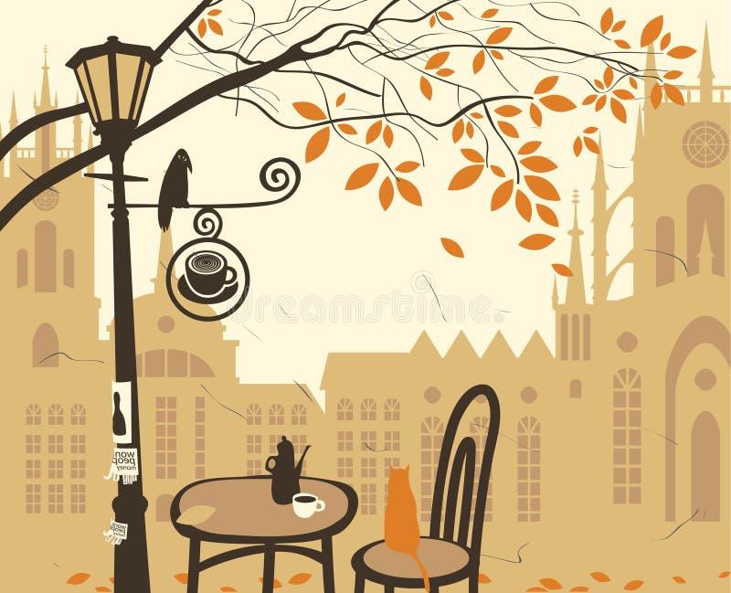 De koffie van de straat royalty-vrije illustratie