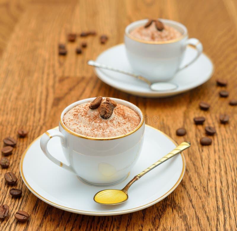 De koffie van het dessert royalty-vrije stock afbeelding