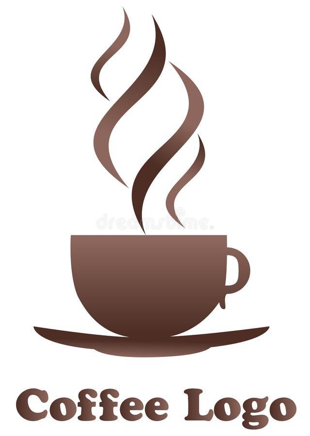 De Koffie van het embleem vector illustratie