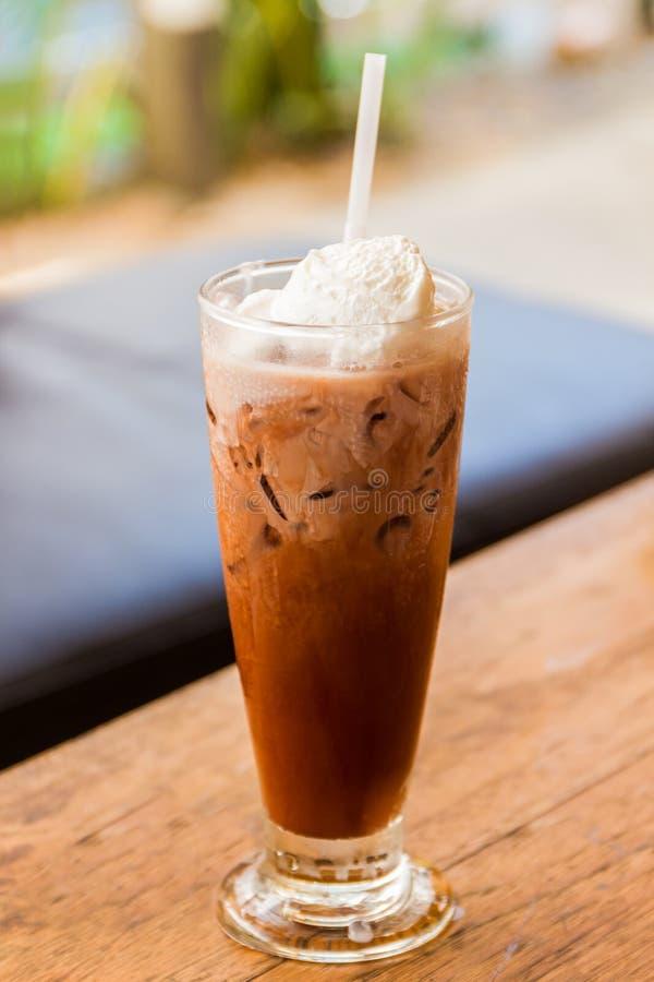De koffie van het ijs met slagroom royalty-vrije stock afbeeldingen