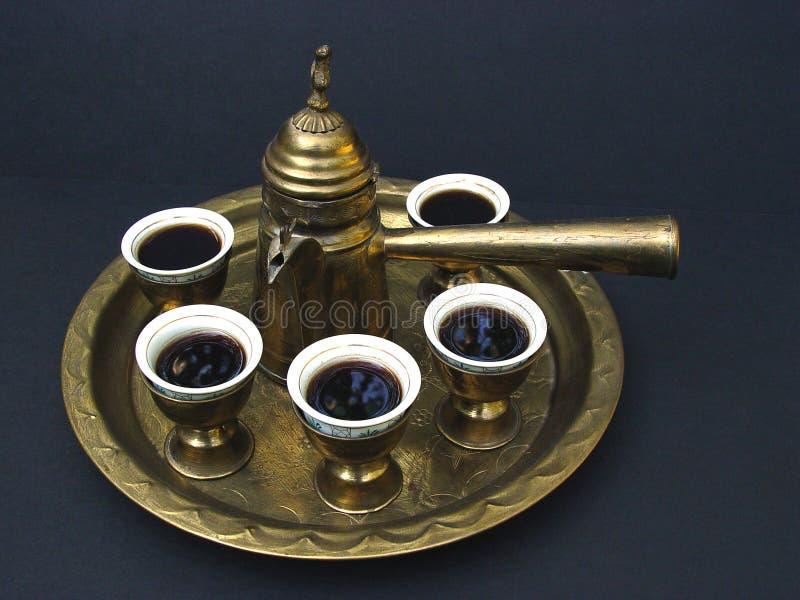 De Koffie van het Middenoosten stock afbeeldingen
