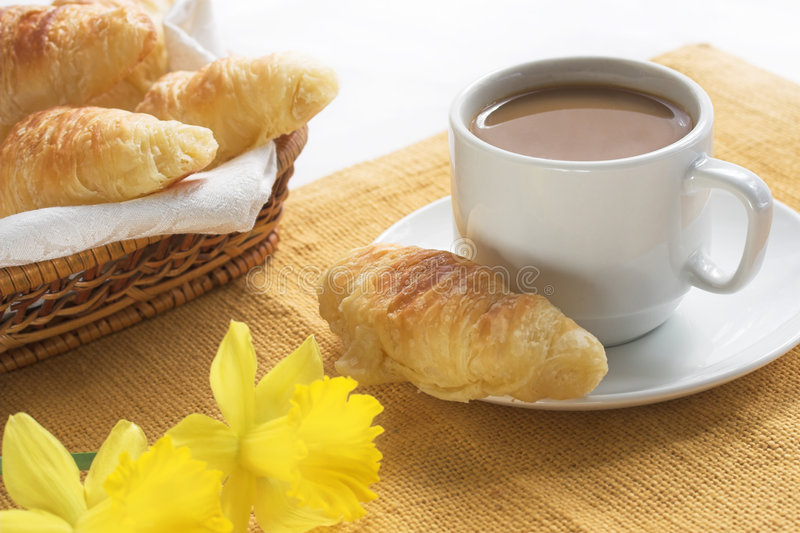 De koffie van het ontbijt stock fotografie
