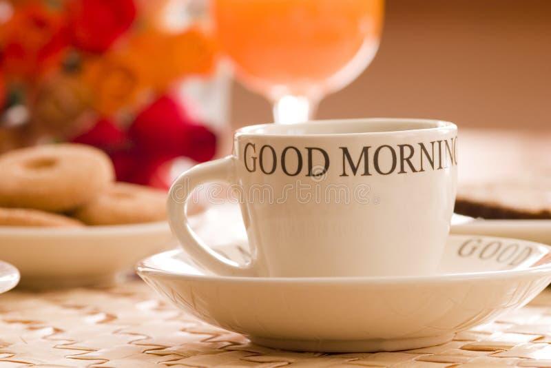 De koffie van het ontbijt royalty-vrije stock afbeelding