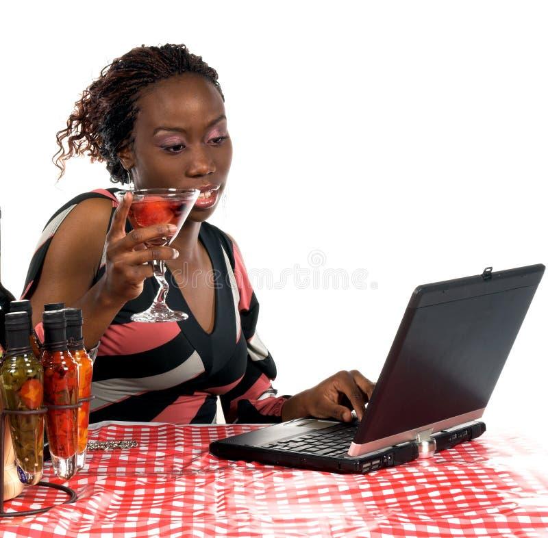 Internet-Koffie stock afbeelding