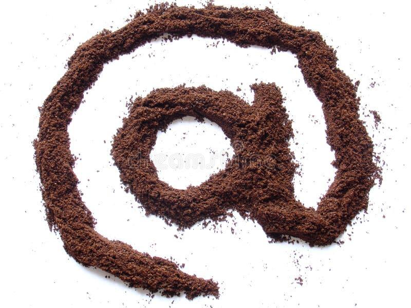 De koffie van Internet stock afbeeldingen