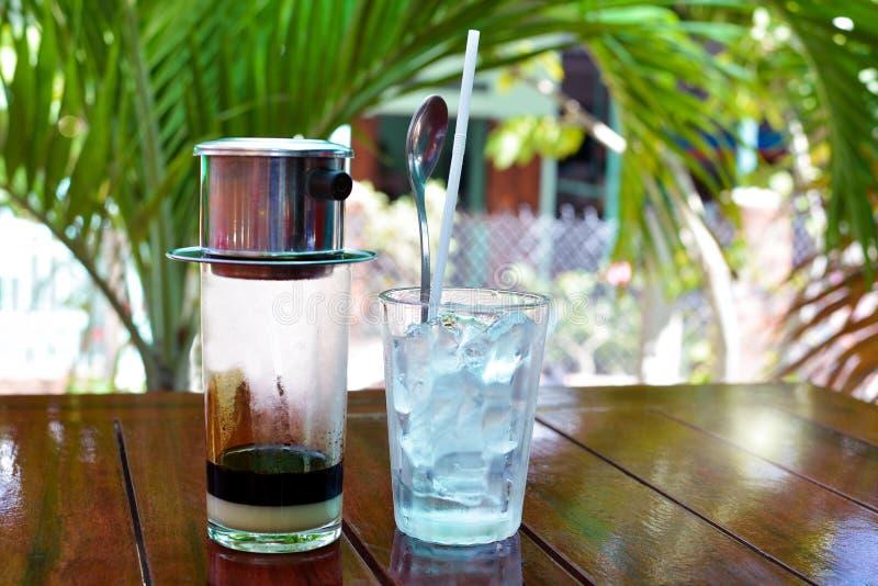 De koffie van Vietnam stock foto's